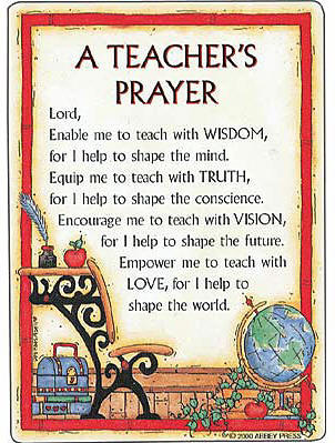 religious prayer teachers prayer