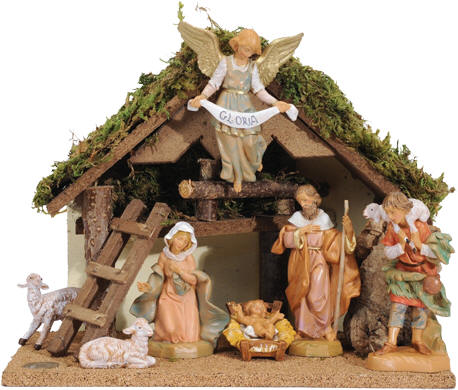 7 Piece Fontanini Nativity Set Features Seven 5 Figures And Beautiful 10 Italian Le Makes The Perfect Gift
