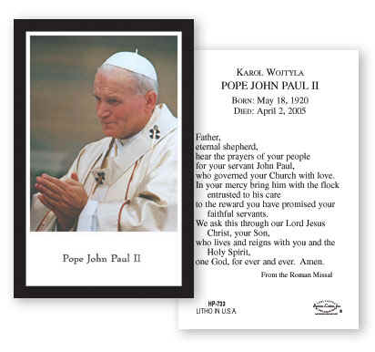 a paper on the life of his holiness pope john paul ii Pope john paul ii says it is his task to state principles and criteria necessary for the new evangelization, inculturation, ecclesial movements, respect for life, and numerous other topics pope john paul also writes the defense of the holiness of the.