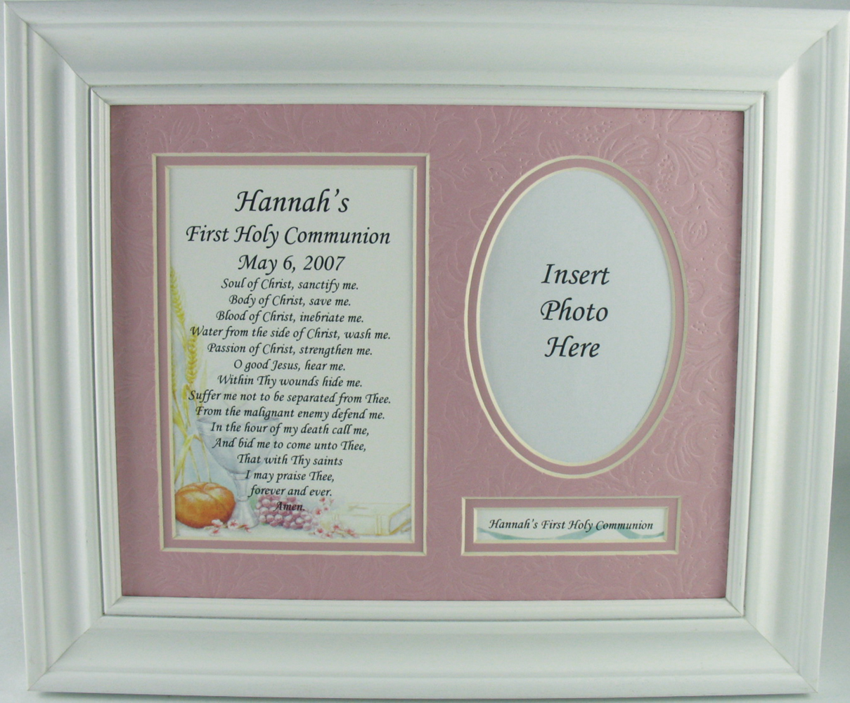 Frames photo albums please specify childs first name and communion date when ordering special ordernon returnable please allow 2 3 weeks for delivery white wood frame jeuxipadfo Images