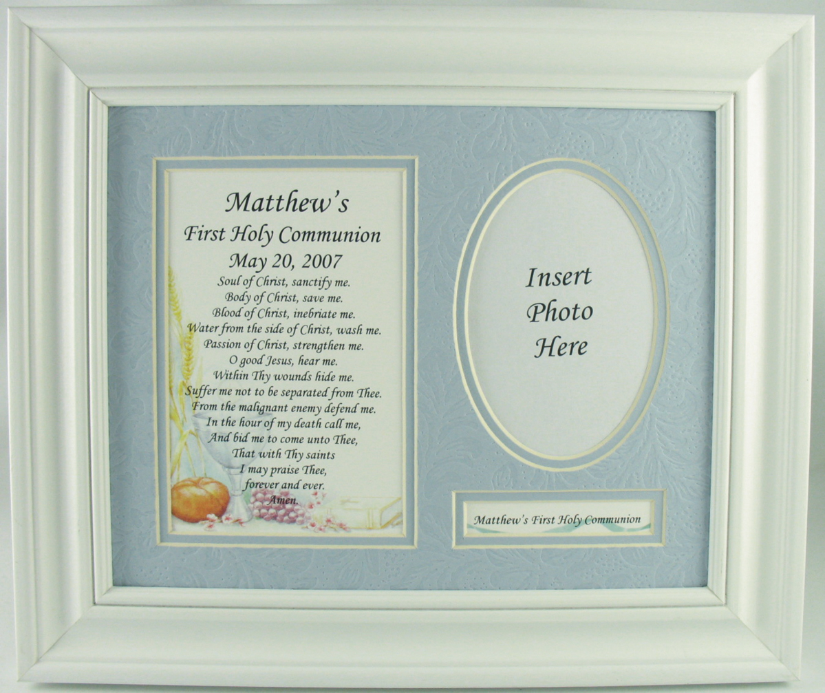 Frames photo albums personalized first communion prayer frames please specify childs first name and communion date when ordering special ordernon returnable jeuxipadfo Images