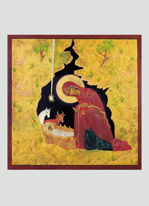 madonna and child icon traditional religious christmas cards 45 x 625 inside and she brought forth her first born son and wrapped him in swaddling
