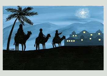journey of the three kings religious christmas cards 45 x 625 inside may the light of christ bring everlasting joy to you and those you love magi - Religious Christmas Cards