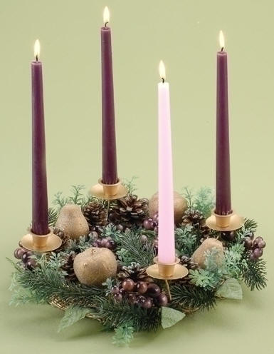 Fruit And Berry Advent Wreath Fruit And Berry Advent Wreath, advent candle holder, advent candleholder