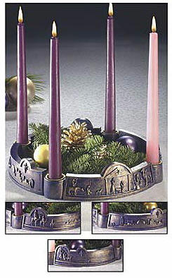 Journey To Bethlehem Advent Wreath advent wreath, advent candles, advent season, christmas season, christmas gift, home decor, christmas decor, 33618K