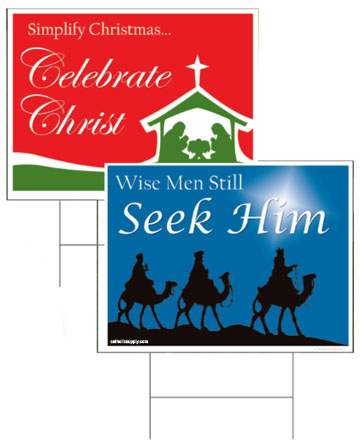 religious yard signs for christmas