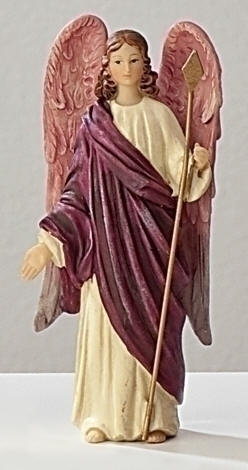 St. Raphael Statue st raphael statue, patron saint of physicians, resin stone statue, home decor, hospital decor, 40616
