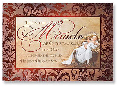 miracle of christmas cards inside this is the mystery of christmas that god became man and dwelled among us this is the meaning of christmas