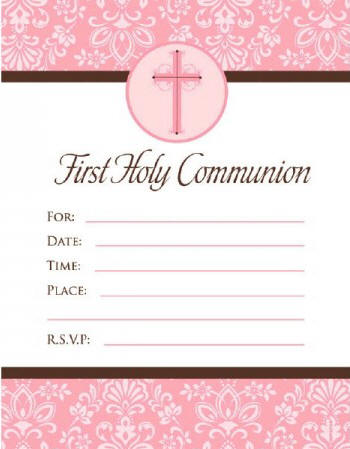 Invitations thank you notes pink cross communion invitations 20pkg write in style 625 x 488 solutioingenieria Image collections