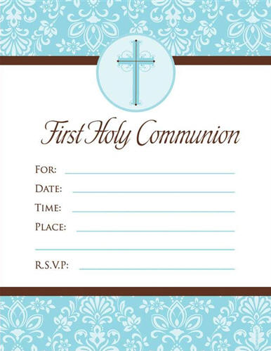 Invitations thank you notes blue cross communion invitations 20pkg write in style 625 x 488 solutioingenieria Image collections