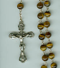 Tiger Eye Bead Rosary rosary, tiger eye bead, rosary, gift rosary,30051, made in italy, sacramental gift, first commmunion gift, gift rosary,03972