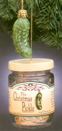Christmas Pickle Ornament ht15, Christmas Pickle Ornament In A Jar, pickle ornament, glass pickle ornament, german pickle ornament