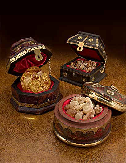 Gold Frankincense And Myrrh Christmas Gifts.The Original Gifts Of Christmas