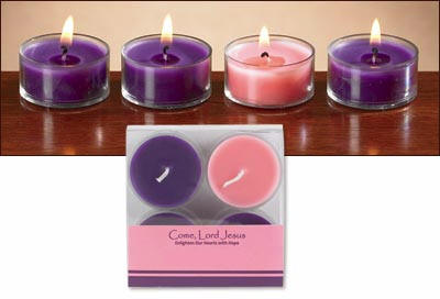 Advent Tealight Candle Set Advent Tealight Candle Set, advent tea light candles