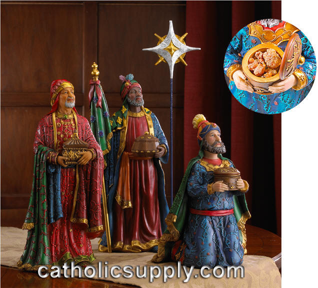 Three wise men gifts at christmas