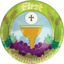 First Communion Paper Plates 8/pkg 10.5\  Dinner Plates (Item #35004) SALE! NOW $2.77. While Supplies Last | Prior Purchases Excluded | Sale Ends 06-01-14 ...  sc 1 st  Catholic Supply & Sacramental Paper Products