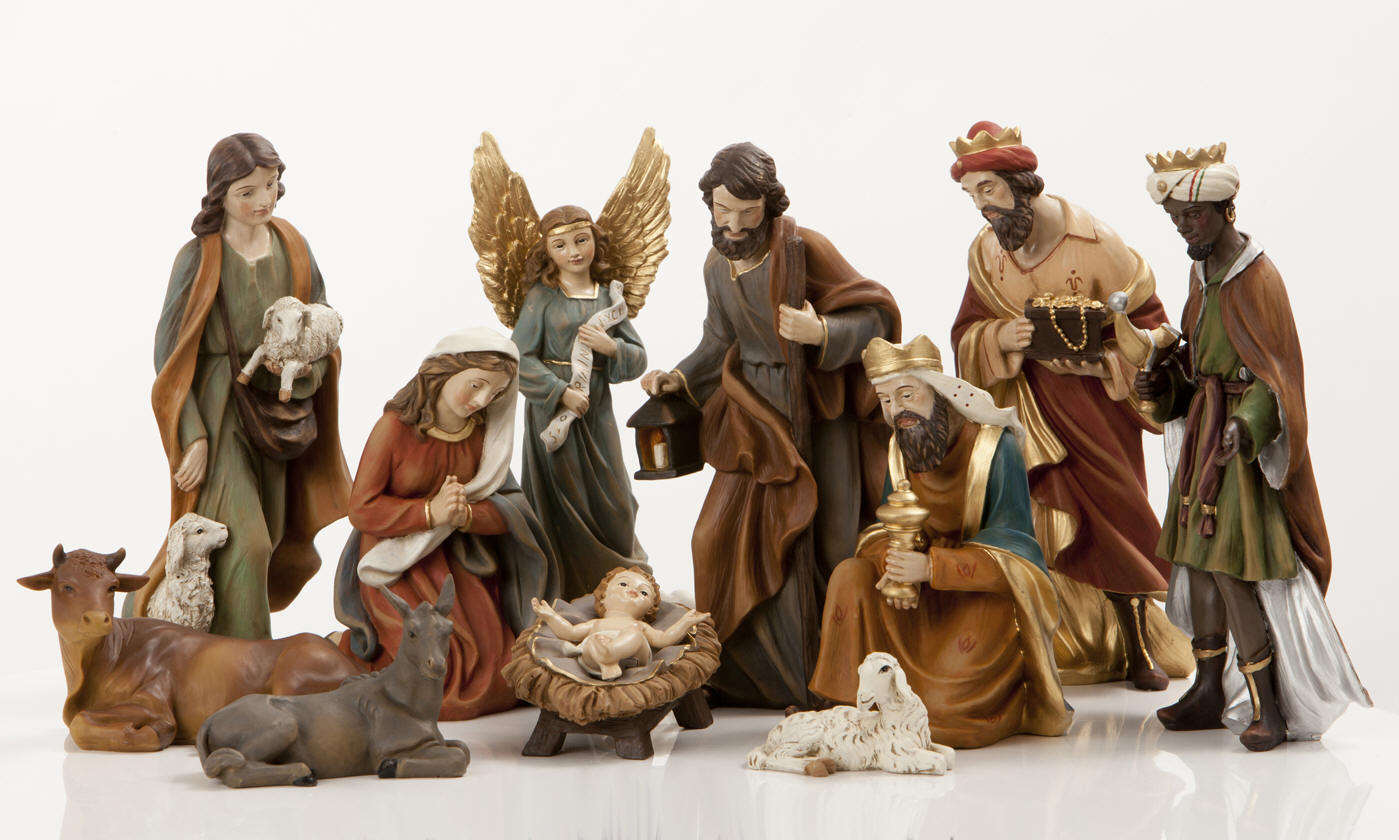 "8"" Heaven%27s Majesty Nativity Figure Set *WHILE SUPPLIES LAST* Heaven%27s Majesty® Nativity Figure Set, heavens majesty, haevens majesty, nativity figure set, wood look nativity figures, wood nativity"