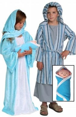 12 Piece Christmas Pageant Nativity Costume Set Costumes are made of soft velour fabric for comfortable fit and easy care. Plush ride-on animals slip over ...  sc 1 th 279 & Christmas Pageant Nativity Costumes