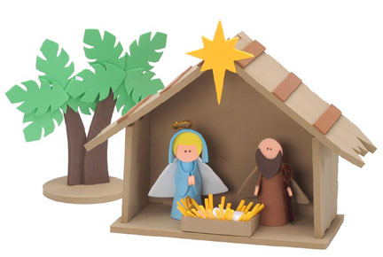 Nativity sets for children for Nativity crafts to make