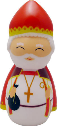 St. Nicholas Shining Light Doll Figurine shining light dolls, shining light statues, st nicholas statue, st. nicholas statue, saint nicholas statue, st nicholas for kids, children st nicholas, kids st nick, st nick statue, kids st nick statue