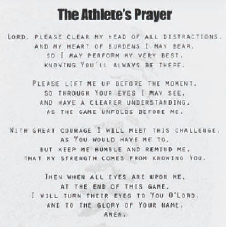 Sports Prayer Cards Amp Frames