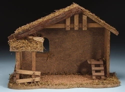 how to build wood nativity stable