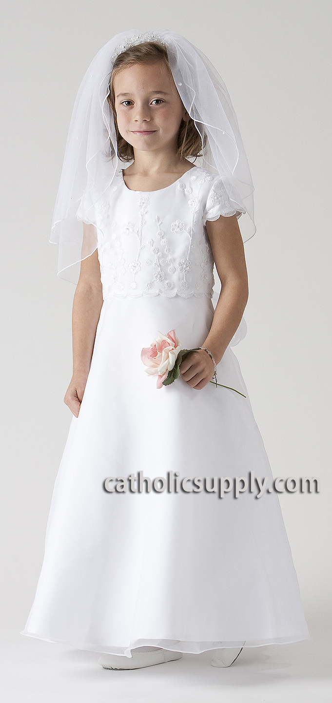 sophie first communion dress delicately embellished bodice with overlay organza skirt popular first communion dress