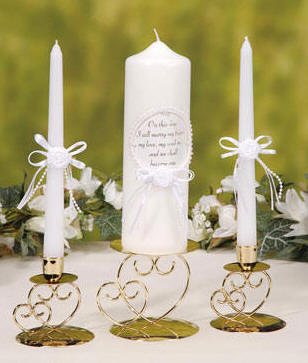 today i will marry my friend wedding unity candle set 1 3x9 pillar candle and two 78 x 10 taper candles item 13478 5999