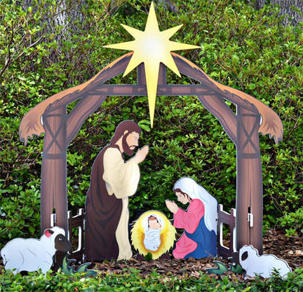 Christmas outdoor yard decorations nativity sets yardde12g aloadofball Images
