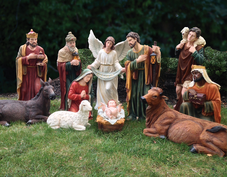 HUGE SITE! Large Scale Indoor / Outdoor Nativity Sets and Yard Decor