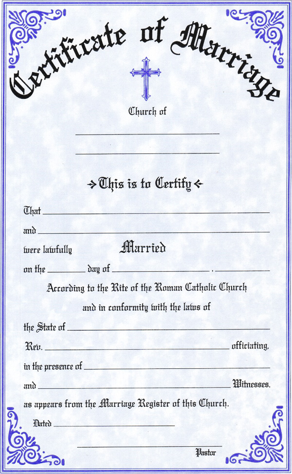 church marriage certificate sample - Boat.jeremyeaton.co