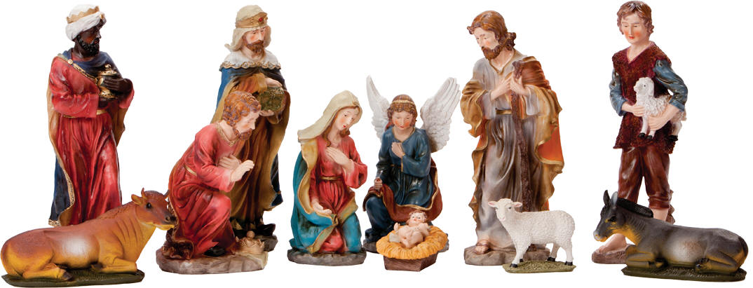 20 full color nativity figure set for Outside christmas figures