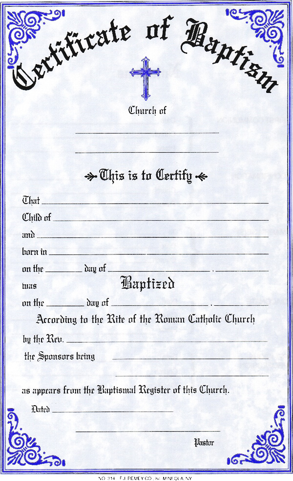 Baptismal certificates search results calendar 2015 for Catholic baptism certificate template