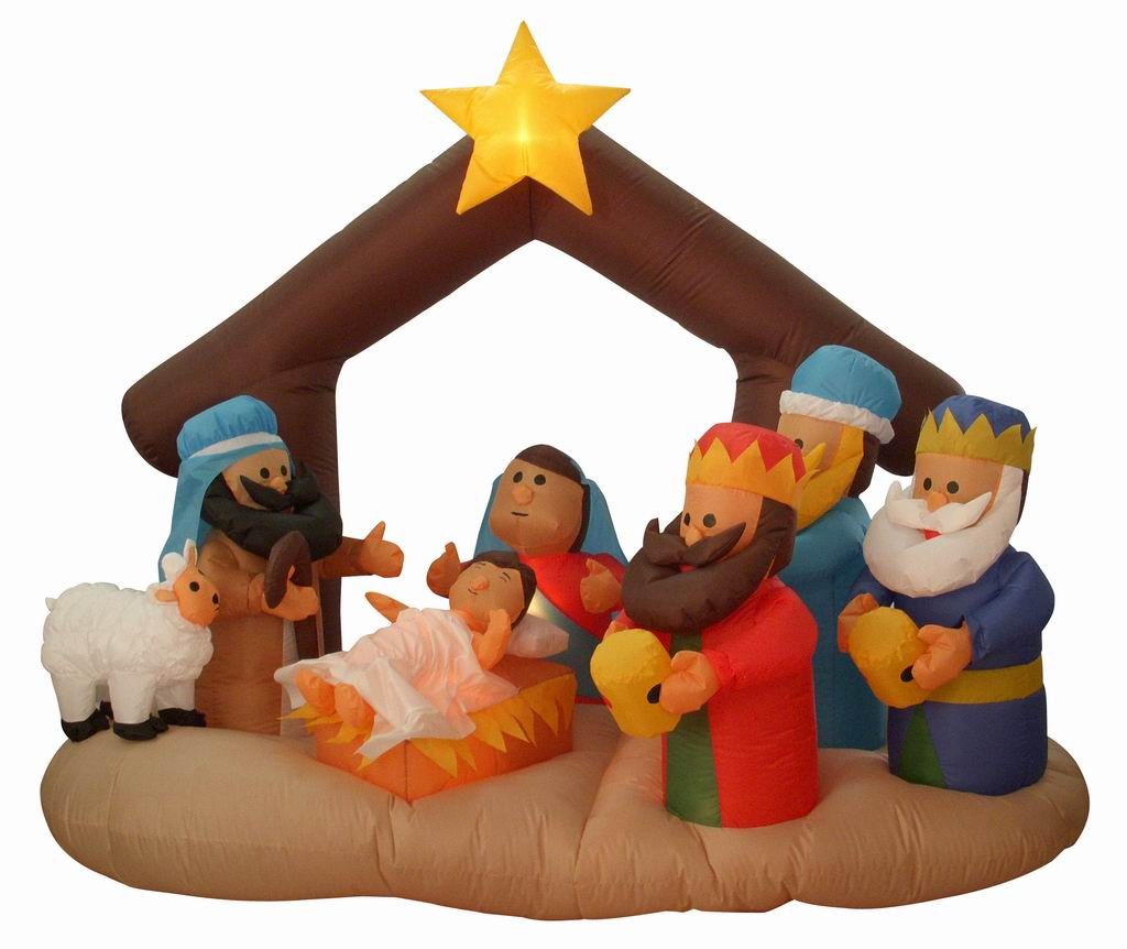Airblown inflatable nativity decorations for Baby jesus lawn decoration