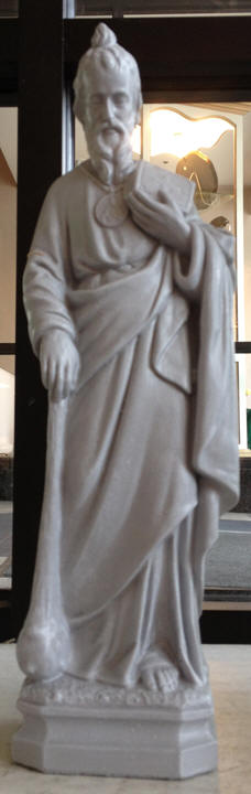 St Jude Statue 18 Tall Solid Concrete Granite Coloring Indoor Outdoor Use Pick Up Only Due To Weight Not Available For Shipment
